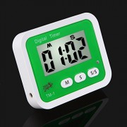 ELECTROPRIME Digital LCD Magnetic Back Kitchen Timer Cooking Alarm Stand Count up Down#1