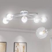 vidaXL Mennyezeti Lámpa Háló Vezeték 5 G9 Izzók