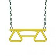 Backyard Discovery Trapeze Swing, Green/Yellow