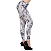 kalhoty dámské (leginy) BANNED - White Mini Skeletons - LBN1124