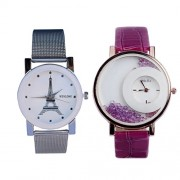 CREATOR(R-TM) Wen-log Effiltower New Official Watch and Good Look Fashion Halfmoon dial combo Watches for women(Random colors will be sent)