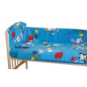 Aparatoare laterala patut, Mickey petrece, albastra, 180 x 30 cm