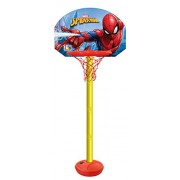 Marvel Spiderman height adjustable shooting champ basketball set for kids/Easy to assemble stand/adjust according to kid's height/Outdoor games for kids/sports development toys/Multicolor toys for kids (colors may vary from illustration)