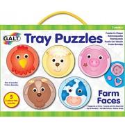 Galt Tray Puzzles Farm Faces