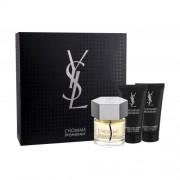Yves Saint Laurent L´Homme set cadou Apa de toaleta 60 ml +Balsam dupa ras50 ml + Gel de dus 50 ml pentru bărbați
