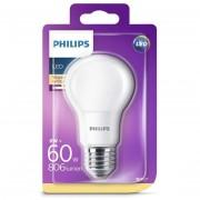 Bec LED Philips 8W (60W), E27, lumina calda 2700k