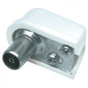 Coax socket haaks - schroefversie