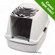 Тоалетна за котки Catit - Цвят: светлосиво / бяло и сиво
