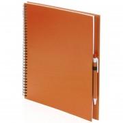 Bellatio Design Schetsboek/tekenboek oranje A4 formaat 80 vellen inclusief pen