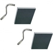 Prestige 8x8 Square Rain Shower Head with 12inch S-Type Arm -Pack of 2
