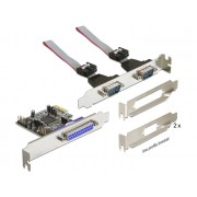 DeLock PCI Express Card > 2x Serial + 1x Parallel 89129