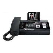 Gigaset DL500A - Téléphone sans fil - système de répondeur avec ID d'appelant/appel en instance - DECTGAP - noir piano