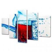 Tablou Canvas Premium Abstract Multicolor Pahar Cu Vin Decoratiuni Moderne pentru Casa 120 x 225 cm