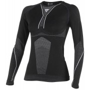 Dainese D-Core Dry Tee LS - Lady Negro/Blanco XS/S