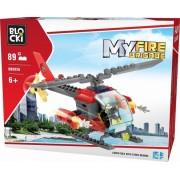 Joc constructie, My Fire Brigade, Elicopter pompieri, 89 piese Blocki