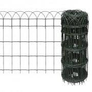 vidaXL Expandable Garden Lawn Edging Border Fence 25 x 0,65 m