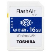 Toshiba SDHC FLASH AIR WIFI 16GB CLASSE 10 W-04 - WIRELESS CARD