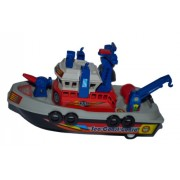 Shinsei Toys Grey Red Blue City Harbour Boat