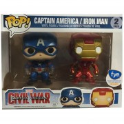 Funko Pop Iron Man And Captain America Two Pack Fye Civilwar