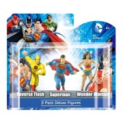 DC 4 PVC Reverse Flash Superman Wonder Woman Figure Set (4-Piece)