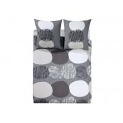 CONFORAMA Housse de couette 240x220 cm + 2 taies d'oreiller GALETS