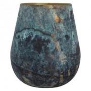 Vaas Igor - zwart/blauw - 21x24 cm - Leen Bakker