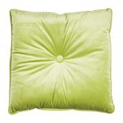 Xenos Kussen met knoop - groen - 45x45 cm