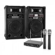 Electronic-Star Sistema de karaoke STAR-8 Set de altavoces PA activos Set de micrófonos inalámbricos VHF de 2 canales (PL-4656-2233)