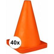 Oranje pionnen 19 cm 40 stuks - voetbal training pionnen