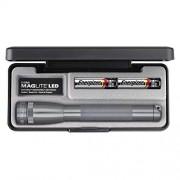 Maglite Mini LED 2-Cell AA Flashlight in Presentation Box, Gray
