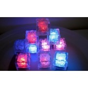 Multi-Color Liquid Sensor Ice Cubes,LED Ice Cubes Color Changing Light Flashing Light LED Glow Lighting for Drinking Wine Wedding Party Bar Decoration at Home, Bar or Clubs (12 Pcs) by Freestep