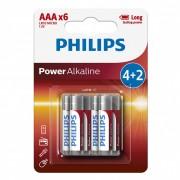 Philips PowerAlkaline LR03-P6BP/10 AAA mikro elem LR03 6db/csomag