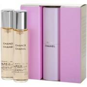 Chanel Chance Eau de Toilette para mulheres 3x20 ml (1x vap.recarregável + 2 x recarga)