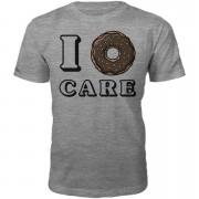 T-Junkie Camiseta I donut care - Hombre - Gris - S - Gris