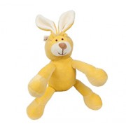 LUCY BUNNY (6in) 15cm (Yellow) PETITE SQUEAKER PLUSH TOY FOR DOGS