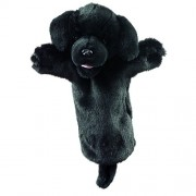 The Puppet Company Black Labrador Long Sleeved Glove Puppet