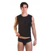 Lookme AUDACIOUS Sheer Muscle Top T Shirt Black 33-77