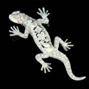 Swarovski Crystal Iguana Newt Lizard Gecko Reptile Pet Brooch