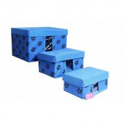PrettyKrafts Storage Combo Pack of 3 Blue/Organizer/Storage Box/Toys Storage Box/Books Storage Box