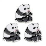 Fenical 3 Piezas Lindas Alfileres de Esmalte Panda Alfileres de Solapa Alfileres de Broche de Panda para Ropa Sombrero Mochilas Panda Tema Fiesta de Cumpleaños Favores Regalos