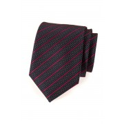 Pánská kravata modrá s červeným proužkem Avantgard 561-9428
