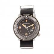 Morphic M58 Series Nato Leather-Band Watch w/ Date - Gunmetal/Black MPH5803