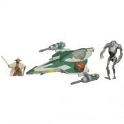 Stars Wars Yodas Jedi Attack Fighter with Yoda & Super Battle Droid