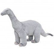 vidaXL Плюшен детски динозавър брахиозавър за яздене, сив, XXL