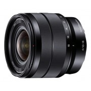Sony - 10-18mm f/4 Wide-Angle Zoom Lens for Most NEX E-Mount Cameras - Black