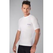 Oddychająca koszulka bezszwowa z jonami Ag+ BK1-01 (biały)