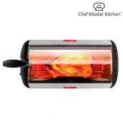 Cuptor portabil rotativ V0100400 Chef Master Kitchen 600 W putere Usa din sticla Temperatura maxima 200 grade Celsius