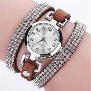 Dames Modieus horloge Polshorloge Armbandhorloge Gesimuleerd Diamant Horloge Punk Kleurrijk imitatie Diamond Kwarts PU BandVintage