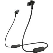 Casti Stereo Sony WIXB400B, Bluetooth, EXTRA BASS, 15 ore autonomie, Microfon (Negru)