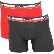 Levi's Boxershorts 2-Pack Rot Grau - Rot XL